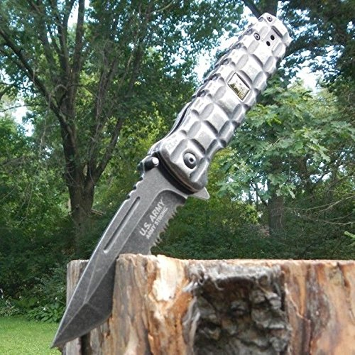 Assisted TACTICAL MILITARY Folding Stonewashed