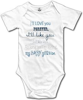 I'll Love You Forever Cotton Infant Bodysuit Playsuit Union Suit Baby Short-Sleeve Bodysuit