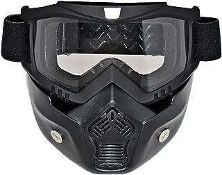 BJ Global gafas de esquí snowboard gafas de deportes al aire libre Motocross cara completa protección Safty Gafas Cara Transparente Gafas
