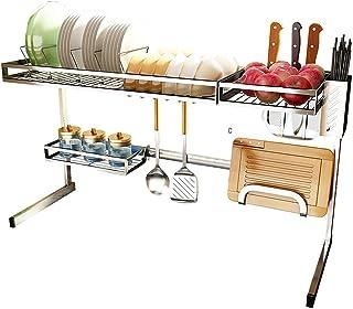 Équipement pour la maison Égouttoir à vaisselle Support à double étagère Panier à vaisselle Boîte de rangement en métal en...