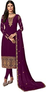 DS collection Women's Heavy Embroided And Colorful Semi Stitched Dress Material