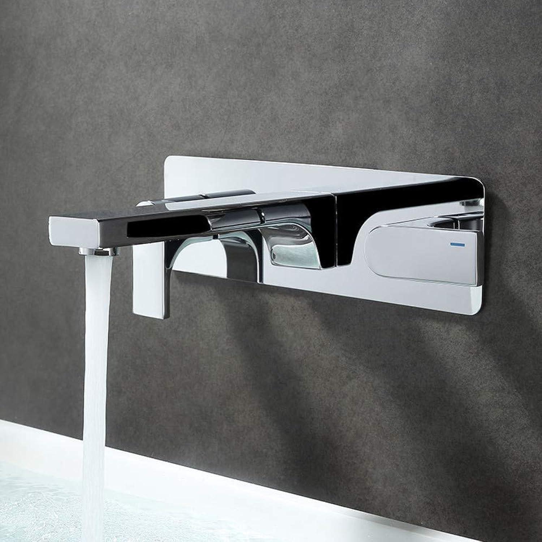 All-Kupfer Wandmontage verborgene vor eingebettete Box hei und kalt Split Doppel-Griff Badewanne Becken Wasserhahn