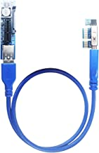 GLOTRENDS 1X to 1X PCI-E Extension Cable 0.6M for Limited Space Installation (UEX101)