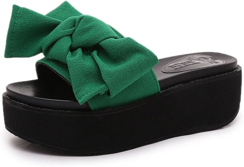 T-JULY Women's Ladies Slide Sandals High Heel Platform Wedge Sandals Fashion Summer Slipper