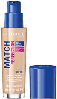 Rimmel London Match Perfection Foundation, 101 Classic Ivory, 123 grams