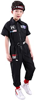 LOLANTA Boys Girls Fashion Jumpsuit Zip-Front Coveralls Hip Hop Street Dance Outfit