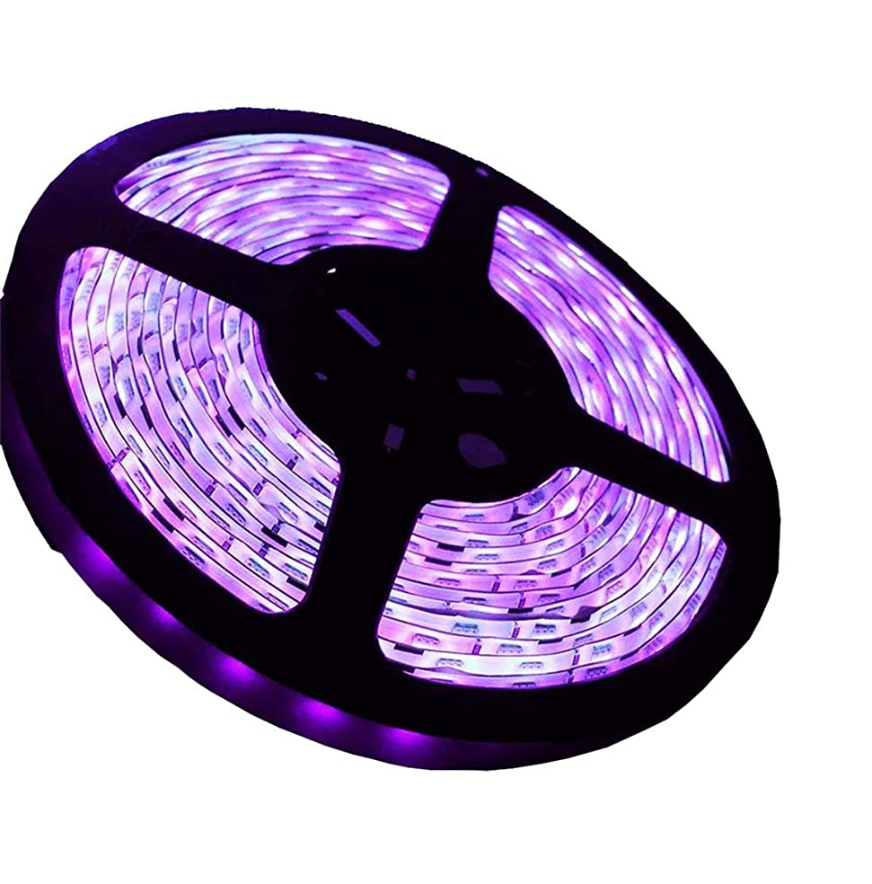 とげのあるがっかりする入浴防水 60W UVブラックライト テープライト ストリップライト AMARS スーパー明るい 5050 UVロープライト 屋内屋外 DC12V 5M 滅菌 フィッシング 蛍光反応 硬化3D印刷 照明 飾り