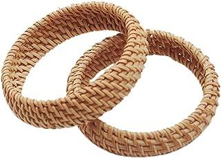 Handmade Bracelet Rattan Woven Bangles Natural Material Bangles Creative Gift