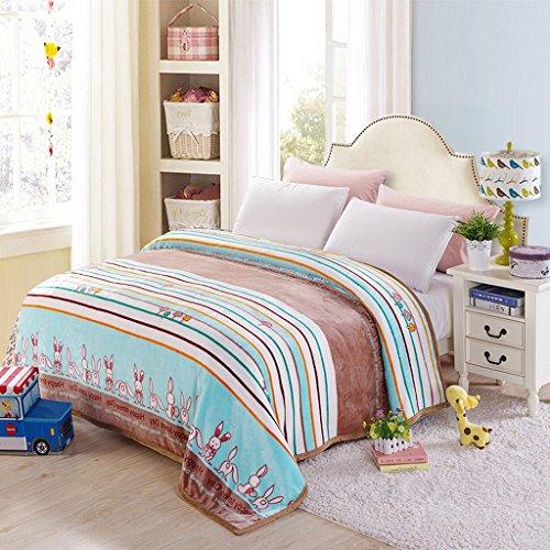 Wddwarmhome Couverture Chaude de Couverture Bleue Chaude de Polyester de Couverture de Motif de lit de Chambre à Coucher Couverture de Loisirs de Quatre Saisons Couvertures (Taille : 230 * 250cm)