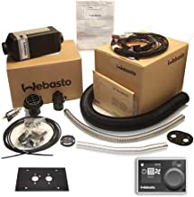 Webasto Air Top 2000 STC Petrol Gasoline Kit 12v including Digital Multi Control HD 7 Day Timer Controller 9030910A and Flat Mounting Plate
