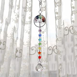 H&D The tree of life Crystal Ball Pendant Chandelier Decor Hanging Prism Ornaments