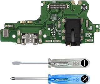 وصلة MMOBIEL لمنفذ الشحن المرن متوافق مع Huawei Y9 6.5 بوصة 2018 USB النوع C 1.0 شحن سريع