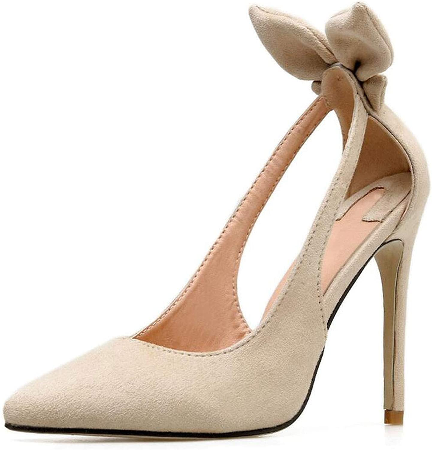 2019 High Heels Sexy shoes Women Pointed Toe 11Cm Thin Heel Party Fashion Ladies Party Dress shoes Size 35-40