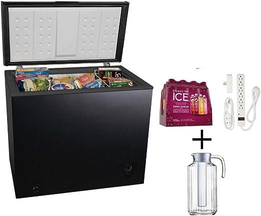 Amazon Com Arctic King 7 0 Cu Ft Chest Freezer In Black Appliances