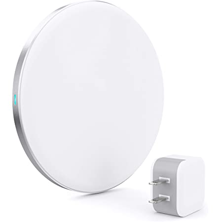 TALK WORKS Wireless Charger 5W Qi Certified Wireless Charging Pad with USB Wall Adapter for Apple iPhone 13, 12, 11, XR, XS, X, 8, Android for Samsung Galaxy S21, S20, S10, S9, S8 - White