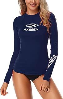 Women Rash Guard Long Sleeve Active Top UPF 50+ Rashguard Swim Shirt Surf Swimwear