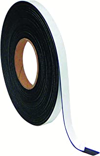 MasterVision Magnetic Adhesive Tape Roll, 1/2 Inch x 50 Feet, Black (FM2321)