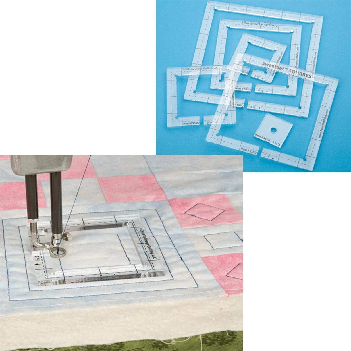 Industry No. 1 WellieSTR 6Size Elegant Set #SSSQ-3mm Patchwork Templ Acrylic Quilting