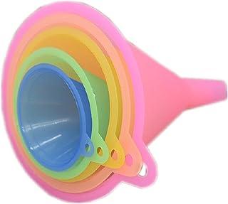 Trichter Küche Regenbogenfarben Trichter Set - 5 Stück Kochtrichter (67, 83, 98,110 und 125 mm) Trichter für Küche