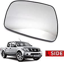 Nonstops Lh Side View Door Mirror Glass Lens for Nissan Frontier Navara D40 2005 2014 Matte Black