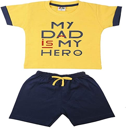 TOONYPORT Cotton Unisex Kidswear Half Sleeve Top Bottom Set