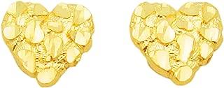heart nugget earrings