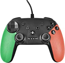Powtree USB Wired Pro Controller for Nintendo Switch Gyro Axis Motion Controls Vibration Sense Gamepad Compatible with Playstation 3 Windows PC Android Game Controllers (Green&Orange)