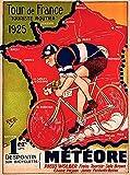 DHArt 1000 Piece Wood Jigsaw Puzzle 1925 Tour de France Bicycle Race Paris France Vintage Travel Art Adult Children Kid Grownup Lovers Wooden Puzzles Gift Toy