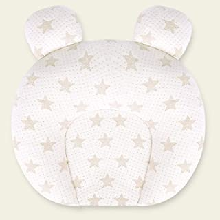 LHLHM Almohada Almohada Estereotipada De Látex Anti-Encabezado Recién Nacido 0-1 Años Suministros Para Bebés Almohada De Algodón De Color Para Bebés