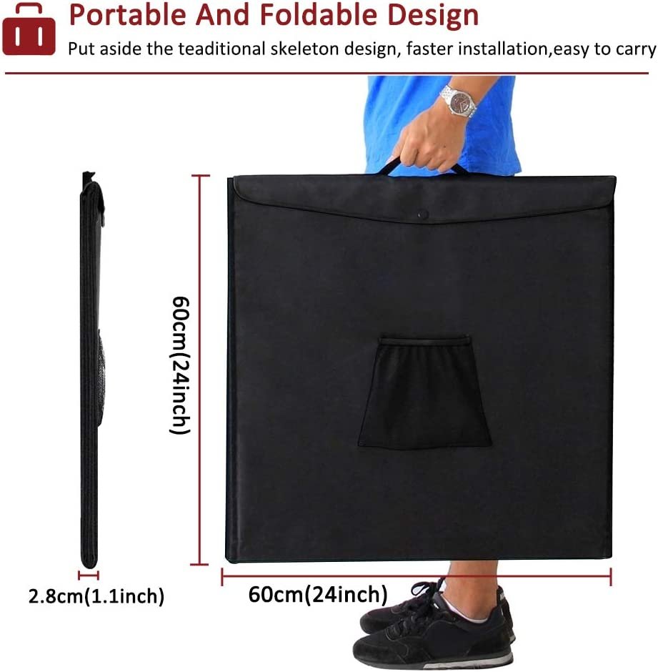 DUCLUS Mini Photo Studio Light Box,Photo Shooting Tent kit,Portable Folding Photography Light Tent kit with 40pcs LED Light 6 Kinds Color Backgrounds for Small Size Products