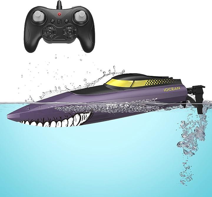 Barca telecomandata grande motoscafo con 25mph+ alta velocità 2.4ghz rolytoy vraijouet B08FBH8CJC