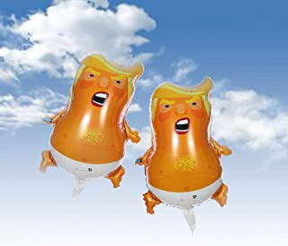 Trump Baby World Trip Party Balloon (2-Pack) |Mini Size 25.2 inches| Non-toxic AL Film Material Balloon | Inflatable & Easy to Carry | with Balloon Ribbon