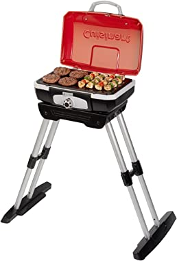 """Cuisinart CGG180 CGG-180 Petit Gourmet Gas Grill with VersaStand, Red, 31.5"""" H x 16.5"""" W x 16"""" L"""