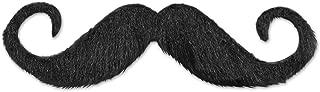 Beistle Handlebar Hairy'stache, 5-Inch, Black