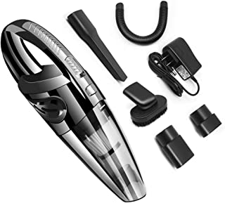 Top1Shop Handheld Vacuum, 120W Cordless Wet and Dry Dual Use Lightweight Portable Vacuum Cleaner with HEPA Filter, Quick C...