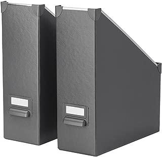 IKEA Fjalla Magazine File Dark Gray 2 Pack 103.956.66