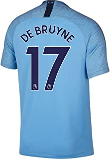Nike Manchester City Home De Bruyne 17 Jersey 2018/2019 (Authentic EPL Printing)