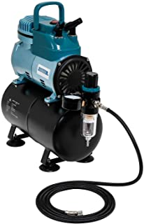 Master Airbrush Model TC-40T - Cool Runner Professional High Performance Single-Piston Airbrush Air Compressor with 3-Lite...