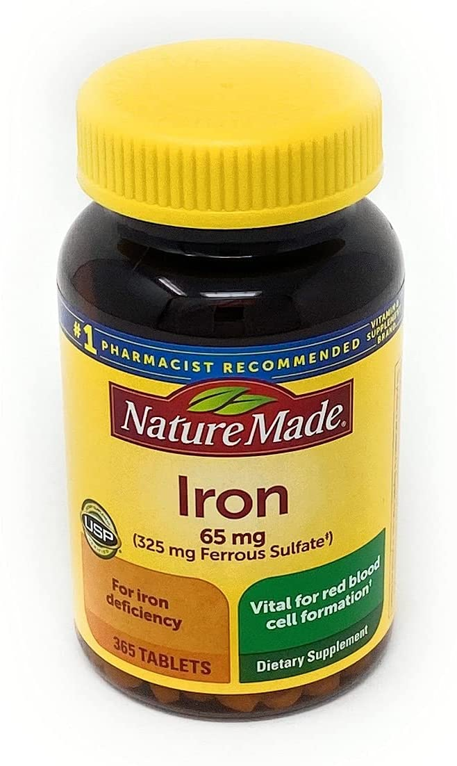 Iron 65 mg 365 Count from Super sale period limited Many popular brands Sulfate Ferrous Pack 0f 1