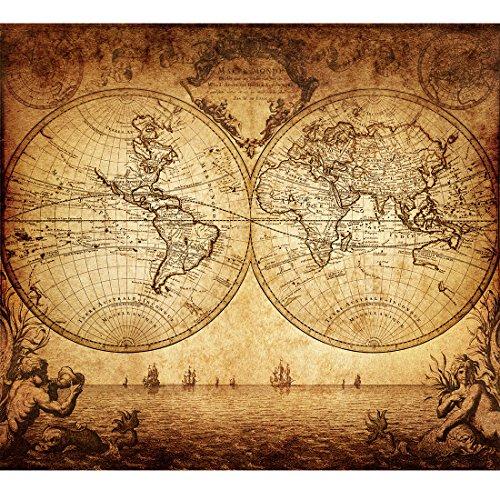 Vintage Old World Map Poster Print Art 1733 Nautical Sailing Ship Map Home Wall Decor