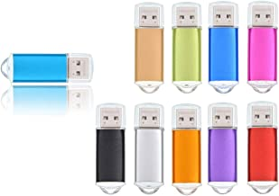 Bulk 10 Pack 8GB USB 3.0 Flash Drive Thumb Drives - Multicoloured Metal Memory Stick Pendrive - Data Storage Jump Drive Zip Drive by FEBNISCTE