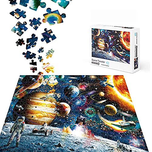 Space Traveler Puzzle, 1000 Teile Gehirn-Herausforderung Puzzle, DIY Intelligenz pädagogisches Spielzeug Geschenk für Kinder ab 3 Jahren