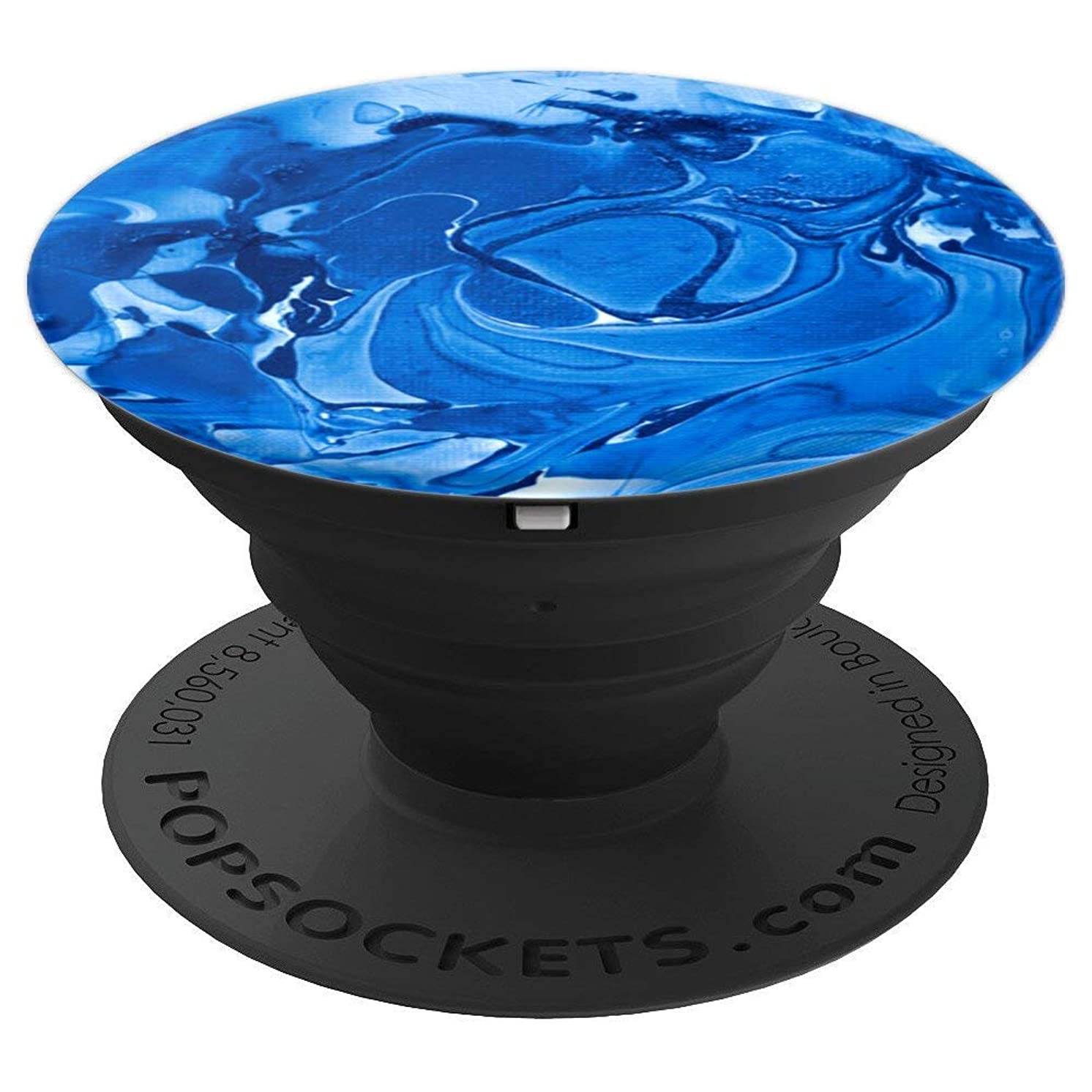 Blue Oil Paint Swirls - PopSockets Grip and Stand for Phones and Tablets
