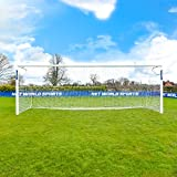 FORZA Alu110 Socketed Football Goal (Choose Your Goal Size - 12 x 6-24 x 8) Upgrade Your Ground With These Premium Socketed Aluminium Football Goals [Net World Sports] (3m x 2m)
