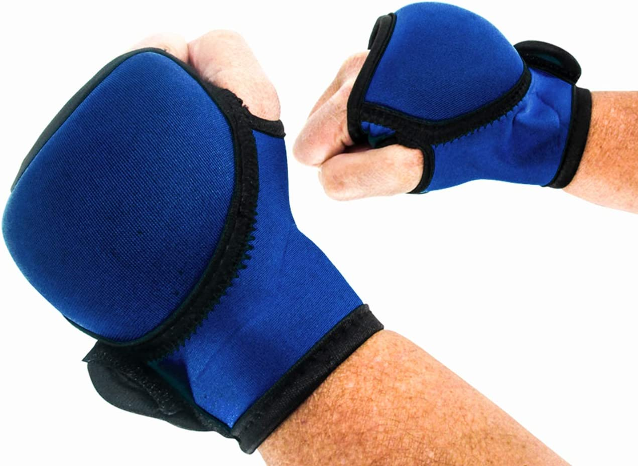 2lbs. Each Trademark Innovations Weighted Kickboxing Boxing Hand Weight Gloves