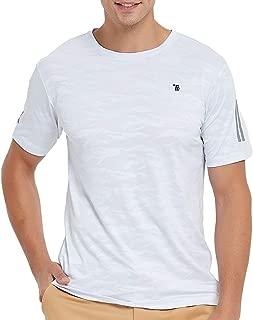 MoFiz Men's Short Sleeve Sports Shirts Moisture Wicking Lightweight Athletic Shirt Tee