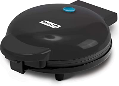 """Dash DEWM8100BK Express 8"""" Waffle Maker Machine for Individual Servings, Paninis, Hash browns + other on the go Breakfast, Lunch, or Snacks, 8 Inch, Black"""