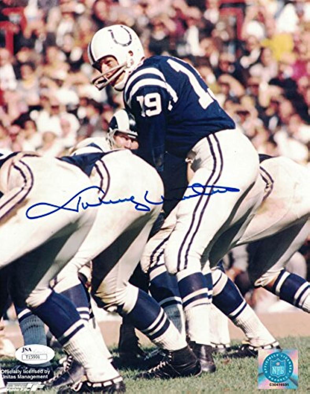 Johnny Unitas Autographed Baltimore Colts 8x10 Photo JSA