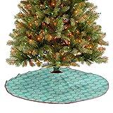 ThinkingPower Alfombra de árbol de Navidad suave abstracta, moderna follaje para festivales de Año Nuevo, suministros una fabulosa adición a tu árbol de Navidad de diámetro – 48 pulgadas