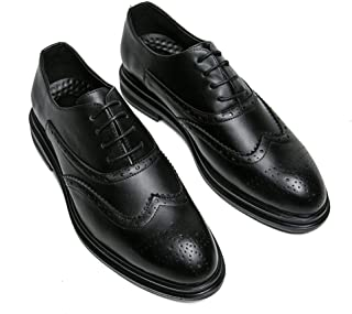2018 Mens New Arrival Shoes, Men's Comfortable Trend Classic Carving Brogue Business Oxford Casual Shoes(Patent Leather Optional)